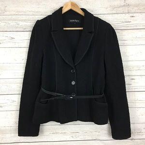 Nanette Lepore knit belted blazer jacket